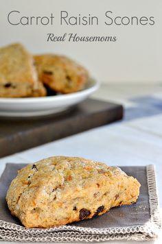 Carrot Raisin Scones | Real Housemoms | #breakfast #scones