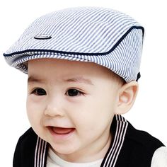 2ebbeba29af baby photography accessories Cute Baby Infant Boy Girl Stripe Cap Peaked  Baseball Hat baby bonnet kids winter hats -in Hats   Caps from Mother   Kids  on ...