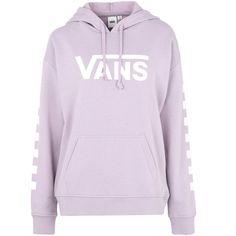 Vans Sweatshirt ($70) ❤ liked on Polyvore featuring tops, hoodies, sweatshirts, lilac, cotton sweatshirts, purple long sleeve top, purple top, lilac top and long sleeve sweatshirts