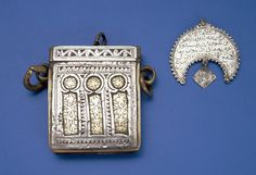Decorative Metal Berber Jewelry From Musuem, Morocco
