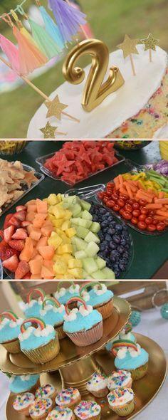 Rainbows and Unicorns Kids Birthday Party