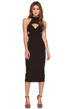 Shona Joy The Modernists Midi Dress in Black   REVOLVE