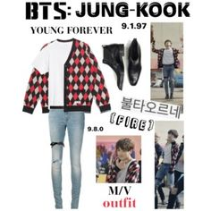 "BTS: JUNGKOOK ""Fire"" M/V Outfit"