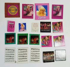 Vintage 1980s Barbie Collectables Over 60 Cardboard Accessories Items Posters Music Sheets Pictures The Rockers California Dream/'n and more