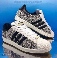 Mens-adidas-Originals-Superstar-2-Trainers-White-Black-sz-10-5-Sign-Off-EU45-1-3