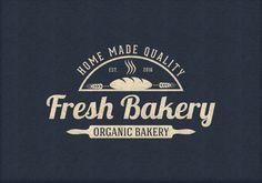 Business Logo Business Branding Bakery Emblem by zazendesign
