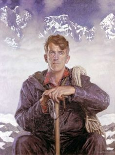 Sir Edmund Hillary Halliday, Edward Irvine, My kiwi mom met him once when he came to visit Germany! King Of The World, Top Of The World, In This World, Monte Everest, Climbing Everest, Oil Canvas, Himalaya, New Zealand Art, Kiwiana