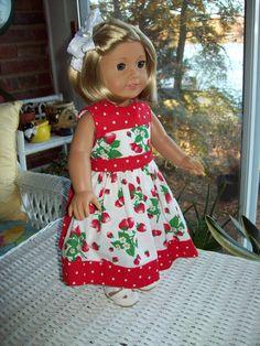 American Girl Doll Clothes 18 inch doll dress. by ASewSewShop