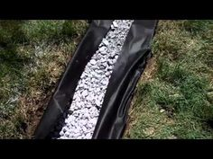 How To Install a FRENCH DRAIN in your back yard, Do It Yourself Project, by APPLE DRAINS - YouTube