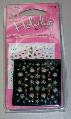 Fingrs Holiday Nail Art Stick on Decals  31109 >>> Find out more about the great product at the image link. Note:It is Affiliate Link to Amazon.