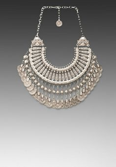 NATALIE B Fit for a Queen Necklace in Silver