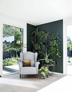 3 Staggering Diy Ideas: Home Decor Living Room Classy home decor scandinavian library.Home Decor Ideas Decoration home decor kitchen cutting boards.Southern Home Decor New Orleans. Interior Plants, Interior Walls, Interior Design Living Room, Living Room Designs, Green Interior Design, Interior Wall Colors, Interior Garden, Cafe Interior, Green Rooms