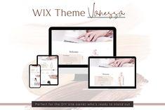 Wix Website template Vanessa, Webdesign, Wix, Wix theme, website Wix