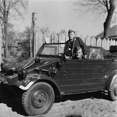 A VW Type 82 Kübelwagen with the  2nd SS-Pz.Div.'Das Reich'