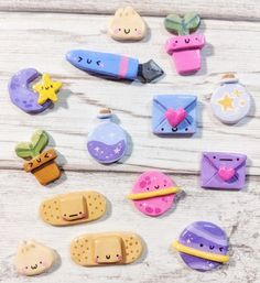 Cute Polymer Clay, Polymer Clay Crafts, Diy And Crafts, Crafts For Kids, Blue Envelopes, Pink Plant, Eco Friendly Paper, Small Moments, Miniature Crafts