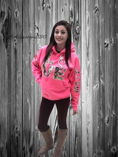 Pink & Camo Love Country Hoodie by calicustom530 on Etsy. But not pink