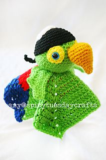 Pirate Bird Blanket Buddy by Amy McC Anderson