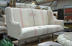 French linen sofa
