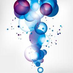 Burbujas azules sobre fondo blanco  - http://www.freepik.es/