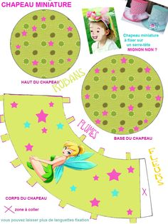 "THEME ""LA FEE CLOCHETTE"" - 1 et 2 et 3 DOUDOUS * PATRONS* PATTERNS * GABARITS FETE A THEMES POUR ENFANTS"