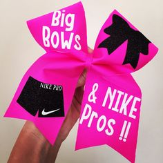 BIG Bows & Nike pros Spandex Cheer Bow by TalkToTheBow on Etsy