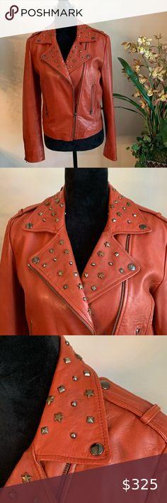 Heathered Rust Moto Jacket