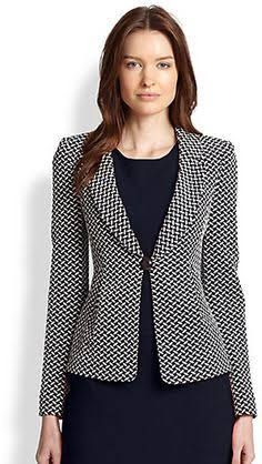 Shop for Armani Collezioni Oval Jacquard Jersey Jacket at ShopStyle. Now for Sold Out.ShopStyle is where fashion happens. Find the latest couture and fashion designers while shopping for clothes, shoes, jewelry, wedding dresses and more!Shop the Arma Mode Outfits, Office Outfits, Casual Outfits, Smart Outfit, Blazer Fashion, Couture, Business Attire, Business Women, Work Attire