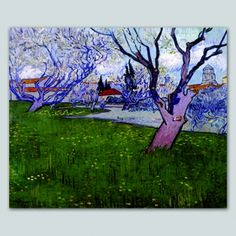 Tela Vincent van Gogh Frutteto in fiore ad Arles