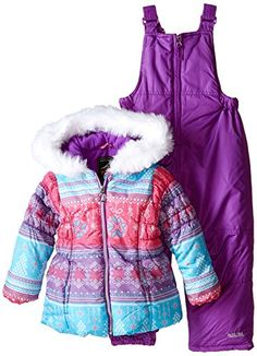 Pacific Trail Little Girls' Fair Isle-Print Coat and Snowsuit Two-Piece Set -- Check this awesome product by going to the link at the image. We are a participant in the Amazon Services LLC Associates Program, an affiliate advertising program designed to provide a means for us to earn fees by linking to Amazon.com and affiliated sites.