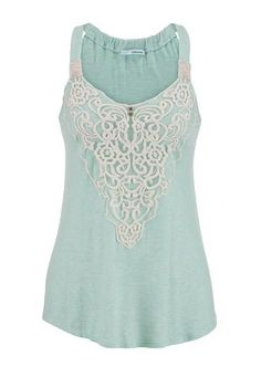 embroidered mesh overlay swing tank (original price, $26) available at #Maurices Pretty obsessed with this. Love the beige with orange straps too. Oh why can you not be cheaper.