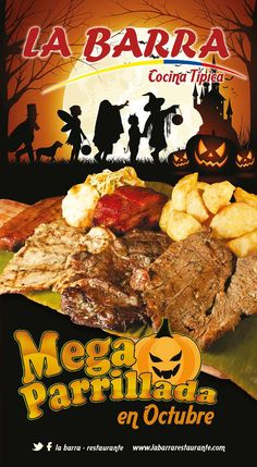 Mega Parrillada Halloween La Barra Restaurantes #Cali #ValledelCauca #Colombia