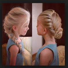 Frozen hairstyles for little girls! This is too cute<< Correction, Frozen hairstyles for me Little Girl Hairstyles, Pretty Hairstyles, Wedding Hairstyles, Braided Hairstyles, Braided Ponytail, Children Hairstyles, Hairstyles 2016, Braid Hair, Modern Hairstyles
