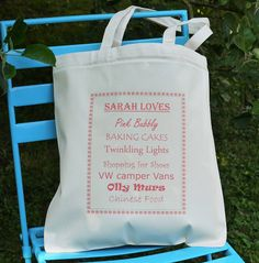 Personalised  She Loves  Shopping Tote Bag from notonthehighstreet.com Best  Gifts Under 50 d86971afb0f12