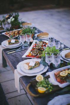 Italian wedding catering - http://burnettsboards.com/2015/08/enchanting-tuscan-wedding-ideas/