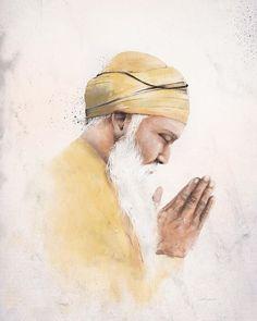 """Guru Nanak, also known as the founder of Sikhism, travelled nearly km across the globe with the mission of (reaching those)… Guru Nanak Ji, Nanak Dev Ji, Guru Granth Sahib Quotes, Shri Guru Granth Sahib, Guru Nanak Wallpaper, Guru Nanak Jayanti, Alone Man, Voyager Seul, Sikh Quotes"