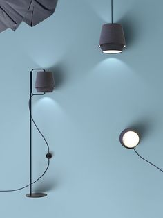 """Elements light by Note Design Studio for Zero. A choice of pastel-coloured fabrics. Based """"..on the tones of light observed in the Scandinavian mountains."""""""
