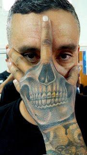 POWER DRAGON TATTOO: Skull Hand