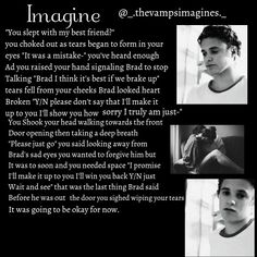 Brad imagine! :)xx I made this check my Instagram _.thevampsimagines._