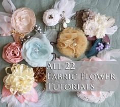 Learn how to make amazing fabric flower bouquets and baby headbands with all the 22 Fabric Flower Tutorials. Read more.
