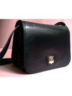 1331dfabedf7 authentic vintage CELINE PARIS LEATHER bag navy by lesclodettes