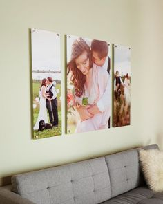 Blow up your wedding photos into gorgeous canvas prints.