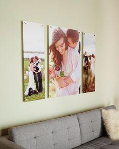 Blow up your wedding photos into gorgeous canvas prints.