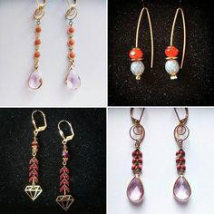 #BO #madebyfrance #earrings #jewels  Modèles (de droite à gauche) : Ozalée, Diane, Esther & Agathe. 20€ la paire.