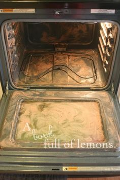 How to clean the oven naturally. | A Bowl Full of Lemons