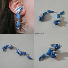 Clinging Pokemon Earrings :3 - Imgur