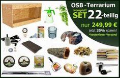 MD-Terraristik - OSB Terrarium Komplettset 22-tlg.