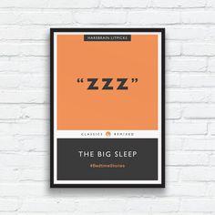 ZZZ The Big Sleep Penguin Classics Parody Print by ThingsThatSing