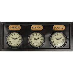 London New York Paris Wall Clock
