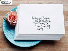 Paperfinger Calligraphy Brings Back Letters by Hand #savethedatecards #weddinginvitations trendhunter.com