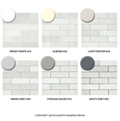 Choosing Grout for Cloé's White Subway Tile - Modern White Subway Tile Bathroom, Subway Tile Showers, Grey Subway Tiles, White Subway Tile Backsplash, Subway Tile Kitchen, White Tiles Grey Grout, Grey Grout Bathroom, Ceramic Subway Tile, Shower Tiles